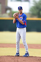 Chicago Cubs pitcher Jake Stinnett (51) during an Instructional League intersquad game on October 9, 2014 at Cubs Park Complex in Mesa, Arizona.  (Mike Janes/Four Seam Images)
