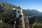 Spain, Province Alicante, El Castell de Guadalest: Bell Tower on rocky outcrop | Spanien, Provinz Alicante, El Castell de Guadalest: Glockenturm