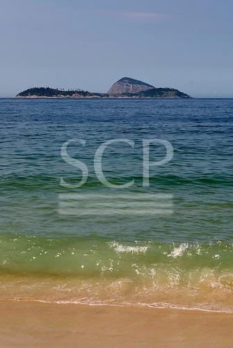 Rio de Janeiro, Brazil. Inviting waters, Leblon beach.