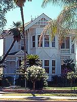 Visalia CA: House, c. 1889. First of five houses on two blocks of N. Encina, 513 N. Encina.