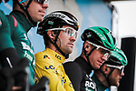 Race leader Yellow Jersey Maximilian Schachmann (GER) and Bora-Hansgrohe at sign on before Stage 3 of the 78th edition of Paris-Nice 2020, running 212.5km from Chalette-sur-Loing to La Chatre, France. 10th March 2020.<br /> Picture: ASO/Fabien Boukla   Cyclefile<br /> All photos usage must carry mandatory copyright credit (© Cyclefile   ASO/Fabien Boukla)