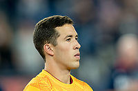 FOXBOROUGH, MA - SEPTEMBER 21: Aaron Herrera #22 of Real Salt Lake during a game between Real Salt Lake and New England Revolution at Gillette Stadium on September 21, 2019 in Foxborough, Massachusetts.