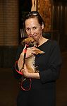 Laurie Metcalf, with dogs from The Humane Society of New York, filming a promo for the Broadway Barks 2019 Announcement at Shubert Alley on June 20, 2019 in New York City.