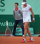Nadia Petrova (RUS) loses at Roland Garros in Paris, France on June 1, 2012