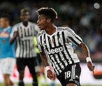 Calcio, Serie A: Napoli vs Juventus. Napoli, stadio San Paolo, 26 settembre 2015. <br /> Juventus' Mario Lemina reacts after scoring during the Italian Serie A football match between Napoli and Juventus at Naple's San Paolo stadium, 26 September 2015.<br /> UPDATE IMAGES PRESS/Isabella Bonotto<br /> <br /> *** ITALY AND GERMANY OUT ***