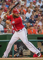 6 August 2016: Washington Nationals outfielder Jayson Werth in action against the San Francisco Giants at Nationals Park in Washington, DC. The Giants defeated the Nationals 7-1 to even their series at one game apiece. Mandatory Credit: Ed Wolfstein Photo *** RAW (NEF) Image File Available ***