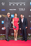 Art Marcum and his companion Jenny, and Michael Shamberg walk the Red Carpet event at the World Celebrity Pro-Am 2016 Mission Hills China Golf Tournament on 20 October 2016, in Haikou, China. Photo by Weixiang Lim / Power Sport Images