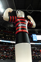 20131018 Copyright onEdition 2013©<br /> Free for editorial use image, please credit: onEdition<br /> <br /> Allianz branded inflatable during the Heineken Cup match between Saracens and Stade Toulousain at Wembley Stadium on Friday 18th October 2013 (Photo by Rob Munro)<br /> <br /> For press contacts contact: Sam Feasey at brandRapport on M: +44 (0)7717 757114 E: SFeasey@brand-rapport.com<br /> <br /> If you require a higher resolution image or you have any other onEdition photographic enquiries, please contact onEdition on 0845 900 2 900 or email info@onEdition.com<br /> This image is copyright onEdition 2013©.<br /> This image has been supplied by onEdition and must be credited onEdition. The author is asserting his full Moral rights in relation to the publication of this image. Rights for onward transmission of any image or file is not granted or implied. Changing or deleting Copyright information is illegal as specified in the Copyright, Design and Patents Act 1988. If you are in any way unsure of your right to publish this image please contact onEdition on 0845 900 2 900 or email info@onEdition.com