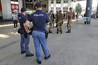 - Milano, Agosto 2019, servizio di sicurezza in occasione dell'inaugurazione del nuovo hub ferroviario di Milano Rogoredo<br /> <br /> - Milan, August 2019, security service at the inauguration of the new Milan Rogoredo railway hub