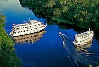 Vista aérea do Rio Ariaú. Amazonas. 1999. Foto de Juca Martins.
