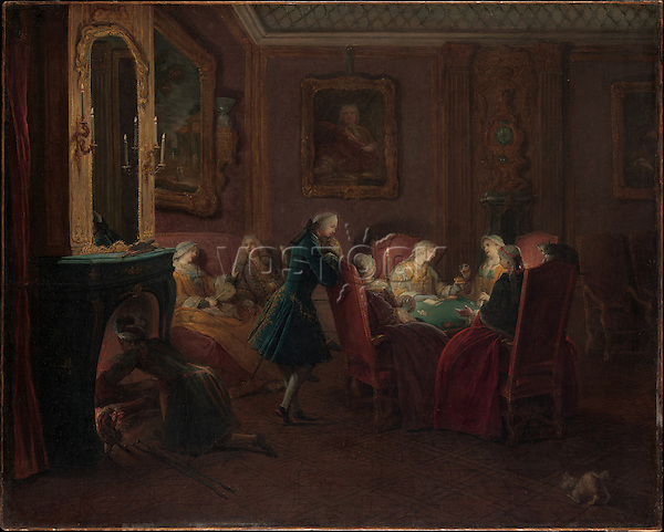 Card Players in a Drawing Room by Pierre Louis Dumesnil the Younger (1698-1781). The Metropolitan Museum of Art, New York.