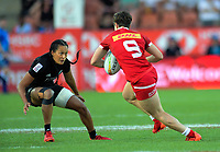 New Zealand's Tyla Nathan-Wong in action during the women's cup final against Canada on day two of the 2020 HSBC World Sevens Series Hamilton at FMG Stadium in Hamilton, New Zealand on Sunday, 26 January 2020. Photo: Dave Lintott / lintottphoto.co.nz