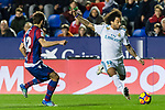 Marcelo Vieira Da Silva of Real Madrid (R) fights for the ball with Jorge Andujar Moreno, Coke, of Levante UD (L) during the La Liga 2017-18 match between Levante UD and Real Madrid at Estadio Ciutat de Valencia on 03 February 2018 in Valencia, Spain. Photo by Maria Jose Segovia Carmona / Power Sport Images