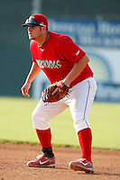 August 16, 2009:  First Baseman Matthew Adams of the Batavia Muckdogs during a game at Dwyer Stadium in Batavia, NY.  The Muckdogs are the Short-Season Class-A affiliate of the St. Louis Cardinals.  Photo By Mike Janes/Four Seam Images