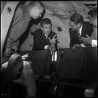 17 Juin 1970. Vue du président de la Roumanie Monsieur Ceaucescu et de Madame en visite à Sud Aviation.
