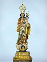 Imagem da santa de Nossa Senhora de Nazaré que substitui a original na procissão do Círio que ocorre todo ano no segundo domingo de outubro em Belém -Pará - Brasil<br />© Foto:Paulo Santos/ Interfoto<br />Cromo