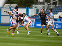 22nd August 2020; The John Smiths Stadium, Huddersfield, Yorkshire, England; Rugby League Coral Challenge Cup, Catalan Dragons versus Wakefield Trinity; Remi Casty of Catalan Dragons is tackled by Wakefield Trinity