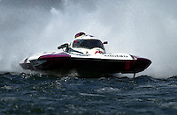 """Regates de Valleyfield, 6-8 July,2001 Salaberry de Valleyfield, Quebec, Canada.Copyright©F.Peirce Williams 2001.CE-7 """"Joker"""", 5 Litre class hydroplane..F. Peirce Williams .photography.P.O.Box 455  Eaton, OH 45320.p: 317.358.7326  e: fpwp@mac.com"""
