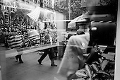 New York, New York.September 29, 2008..Traders leave Wall Street after a free fall as the Dow closes 777, the Nasdaq down 199 (9%), and the S&P down 106 or 8.8% because Congress failed to pass a $700 billion bailout plan....