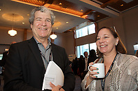 Alan Graham (L) at the Coaching in Leadership and Healthcare Conference by the Institute of Coaching and Harvard Medical School at the Renaissance Hotel Boston MA October 13 and 14, 2017