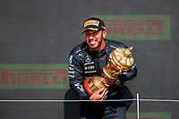 podium HAMILTON Lewis (gbr), Mercedes AMG F1 GP W12 E Performance, portrait during the Formula 1 Pirelli British Grand Prix 2021, 10th round of the 2021 FIA Formula One World Championship from July 16 to 18, 2021 on the Silverstone Circuit, in Silverstone, United Kingdom - <br /> Formula 1 GP Great Britain Silverstone 18/07/2021<br /> Photo DPPI/Panoramic/Insidefoto <br /> ITALY ONLY