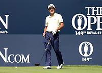 15th July 2021; Royal St Georges Golf Club, Sandwich, Kent, England; The Open Championship, PGA Tour, European Tour Golf, First Round ;Takumi Kanaya (JAP) prepares to hit his tee shot on the 1st hole