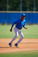 Toronto Blue Jays Reggie Pruitt (63) during practice before a Minor League Spring Training Intrasquad game on March 14, 2018 at Englebert Complex in Dunedin, Florida.  (Mike Janes/Four Seam Images)