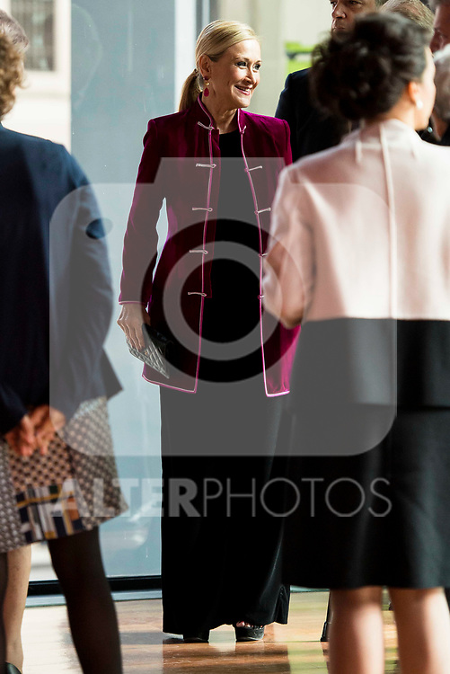 Cristina Cifuentes attends to the act of imposition of the great cross of the civil order of Alfonso X el Sabio to D. Francisco Luzon Lopez at Reina Sofia Museum in Madrid. March 13, 2017. (ALTERPHOTOS/Borja B.Hojas)