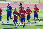 Thiago Alcantara, Marc Bartra, David Silva during training of the spanish national football team in the city of football of Las Rozas in Madrid, Spain. August 30, 2017. (ALTERPHOTOS/Rodrigo Jimenez)