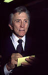 Kirk Douglas attending a Broadway show on May 1, 1980 in New York City.