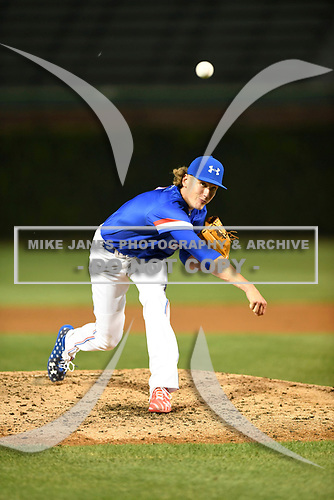 Braxton Ashcraft (2) of Robinson High School in Robinson, Texas during the Under Armour All-American Game presented by Baseball Factory on July 29, 2017 at Wrigley Field in Chicago, Illinois.  (Mike Janes/Four Seam Images)