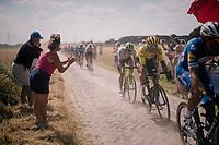Greg Van Avermaet (BEL/BMC) on pavé sector #6<br /> <br /> Stage 9: Arras Citadelle > Roubaix (154km)<br /> <br /> 105th Tour de France 2018<br /> ©kramon