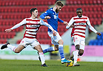 St Johnstone v Hamilton Accies…30.12.20   McDiarmid Park     SPFL<br />Shaun Rooney battles with Andrew Winter and Hakeem Odoffin<br />Picture by Graeme Hart.<br />Copyright Perthshire Picture Agency<br />Tel: 01738 623350  Mobile: 07990 594431