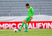 GUADALAJARA, MEXICO - MARCH 28: David Ochoa #20 of the United States passes off the ball during a game between Honduras and USMNT U-23 at Estadio Jalisco on March 28, 2021 in Guadalajara, Mexico.