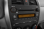 Stereo audio system close up detail view of a 2009 Toyota Corolla 4 Door
