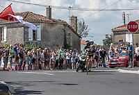 Sylvain Chavanel (FRA/Direct Energie) trying it solo..<br /> <br /> Stage 2: Mouilleron-Saint-Germain > La Roche-sur-Yon (183km)<br /> <br /> Le Grand Départ 2018<br /> 105th Tour de France 2018<br /> ©kramon