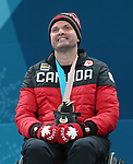 Mark Ideson, PyeongChang 2018 - Wheelchair Curling // Curling en fauteuil roulant.<br /> Mark Ideson receives the bronze medal // Mark Ideson reçoit la médaille de bronze. 17/03/2018.