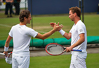 Den Bosch, Netherlands, 07 June, 2016, Tennis, Ricoh Open, Mens Doubles : Wesley Koolhof (L) and Matwe Middelkoop (NED) <br /> Photo: Henk Koster/tennisimages.com