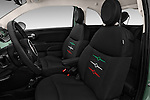 Front seat view of 2017 Fiat 500 Pop 3 Door Hatchback Front Seat  car photos