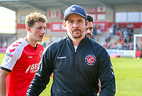 Joey Barton (Manager) of Fleetwood Town during the Sky Bet League 1 match between Fleetwood Town and Peterborough at Highbury Stadium, Fleetwood, England on 19 April 2019. Photo by Stefan Willoughby.