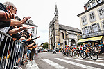The breakaway of the day with Matej Mohoric (SLO) Bahrain Victorious, Sean Bennett (USA) Qhubeka NextHash, World Champion Julian Alaphilippe (FRA) Deceuninck-Quick-Step and Pierre-Luc Perichon (FRA) Cofidis during Stage 18 of the 2021 Tour de France, running 129.7km from Pau to Luz Ardiden, France. 15th July 2021.  <br /> Picture: A.S.O./Charly Lopez   Cyclefile<br /> <br /> All photos usage must carry mandatory copyright credit (© Cyclefile   A.S.O./Charly Lopez)