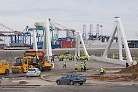 New bridge - Street Circuit Valencia works - Urban circuit in Valencia - 31 May 2008 - Valencia - Spain