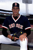 Boston Red Sox draft pick Mike Spinelli prior to a game at Fenway Park in Boston, Massachusetts during the 1995 season.  (Ken Babbitt/Four Seam Images)