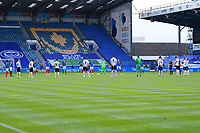 Portsmouth and Oxford United players pay their respect to the NHS during Portsmouth vs Oxford United, Sky Bet EFL League 1 Play-Off Semi-Final Football at Fratton Park on 3rd July 2020