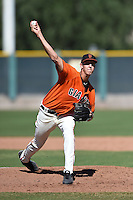 San Francisco Giants pitcher Nolan Riggs (70) during an Instructional League game against the SK Wyverns on October 14, 2014 at Giants Baseball Complex in Scottsdale, Arizona.  (Mike Janes/Four Seam Images)