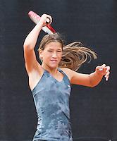 August 8, 2014, Netherlands, Rotterdam, TV Victoria, Tennis, National Junior Championships, NJK,  Kim Hansen (NED)<br /> Photo: Tennisimages/Henk Koster