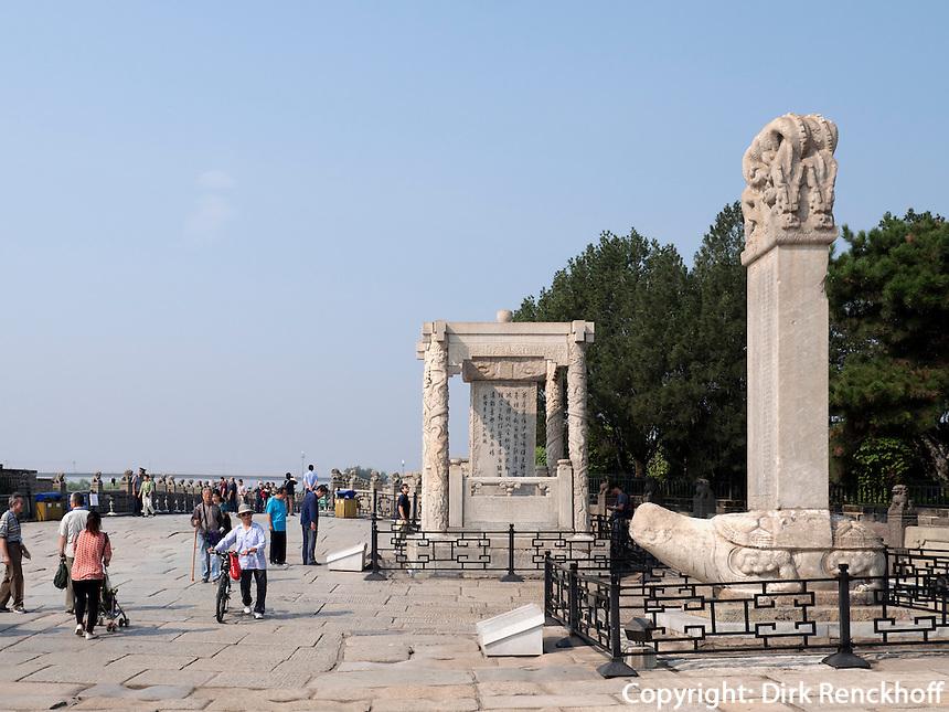 bei der MarcoPolo-Brücke in Peking, China, Asien<br /> at MarcoPolo-bridge, Beijing, China, Asia