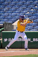 East Carolina Pirates Bryson Worrell (35) bats during a game against the Memphis Tigers on May 25, 2021 at BayCare Ballpark in Clearwater, Florida.  (Mike Janes/Four Seam Images)