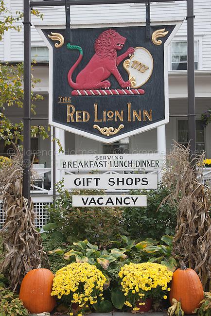 Sign outside of the Red Lion Inn in Stockbridge, Massachusetts