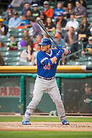 Yasmani Grandal (39) of the Oklahoma City Dodgers at bat against the Salt Lake Bees in Pacific Coast League action at Smith's Ballpark on May 27, 2015 in Salt Lake City, Utah.  (Stephen Smith/Four Seam Images)